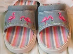 Pink Flamingo on Sandel