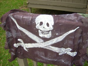 Custom Made Glow in the Dark Pirate Flag