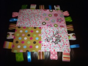 Personalized Tag Baby Blanket