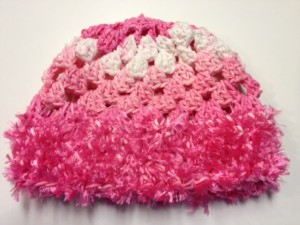 Pink Snowflake Baby Hat