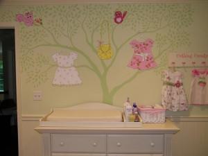 Custom Baby Girl Pretty N Pink Mural