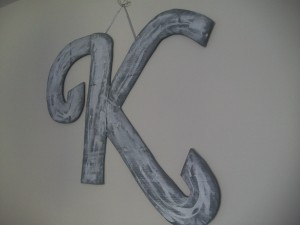 DIY MONOGRAM out of Recycled Materials