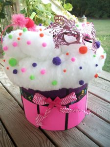 DIY Cupcake Fairy Halloween Costume for Toddler Girl with Battery Operated Lights and Sprinkles